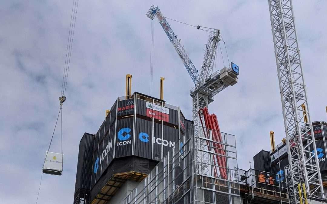 Lifting: A Crane, Materials Hoist, or both?